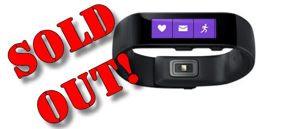 Microsoft Band Sold Out