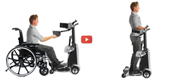 Standing mobility for paralyzed users video health