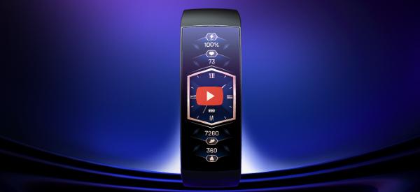 Curvy Smartwatch Has No Buttons [video]
