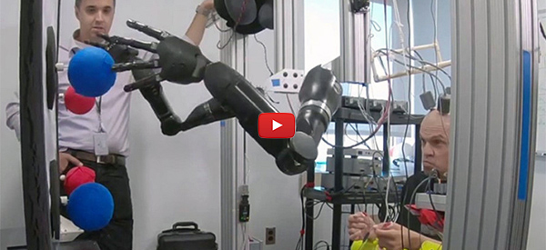 Robot Arms Controlled by Just by Thinking [video]