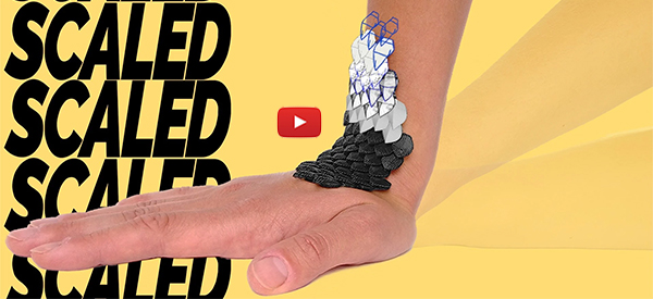 Reptilian Design of Protective Brace Allows For Full Mobility [video]