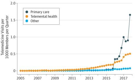 Telemedicine Use Grows Rapidly