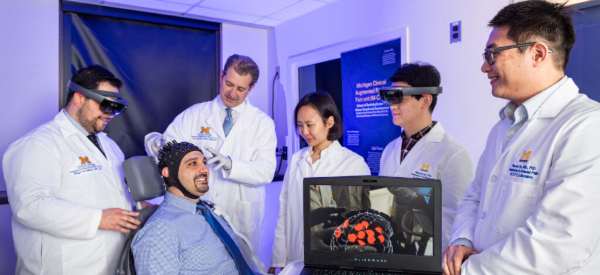 AR and AI Detect Brain Pain