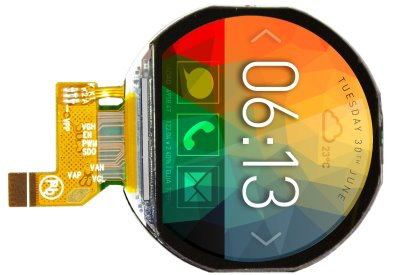 Round Display Includes Touchscreen