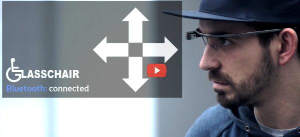 Google Glass App Controls Wheelchair [video]