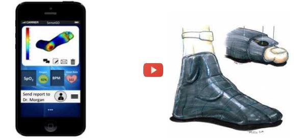 Pressure-Sensing Sock to Help Diabetics [video]