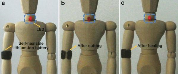 Self-Healing Batteries Work After Breaking