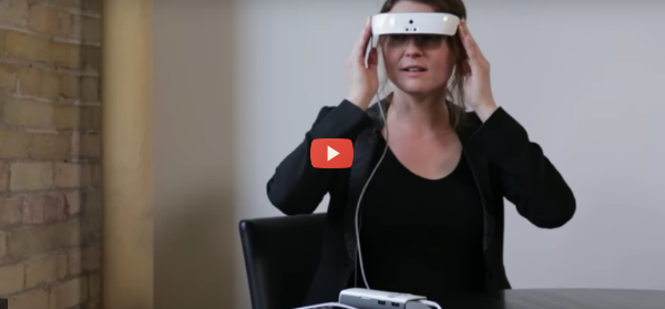Headset Helps Legally Blind to See [video]